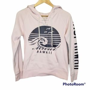 3 for $25 Ocean Drive Maui Pink Hoodie Small
